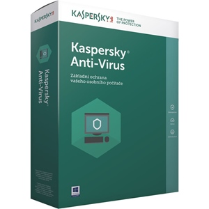 Obrázek Kaspersky Anti-virus 2021, licence pro nového uživatele, počet licencí 5, platnost 2 roky