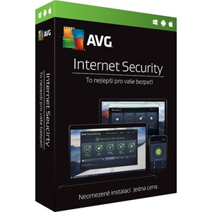 Obrázek AVG Internet Security 2021, licence pro nového uživatele, počet licencí 3, platnost 1 rok