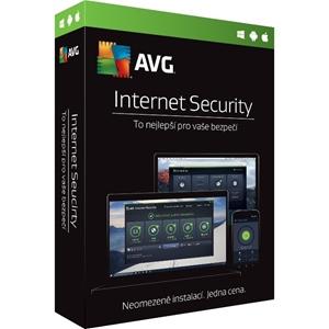 Obrázek AVG Internet Security 2021, obnovení licence, počet licencí 1, platnost 2 roky