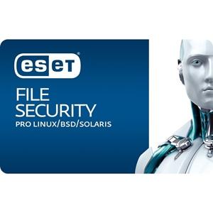 Obrázek ESET Server Security pro Linux; obnovení licence ve veřejné správě; počet licencí 3; platnost 3 roky