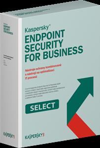 Obrázek Kaspersky Endpoint Security for Business SELECT, licence pro nového uživatele, počet licencí 40, platnost 1 rok