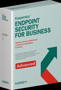Obrázek Kaspersky Endpoint Security for Business - Advanced; obnovení licence; počet licencí 40; platnost 1 rok