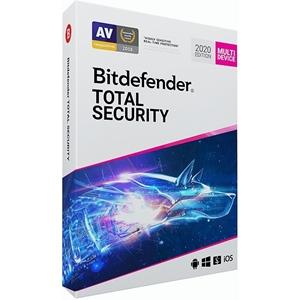 Obrázek Bitdefender Total Security 2021, licence pro nového uživatele, platnost 3 roky, počet licencí 5